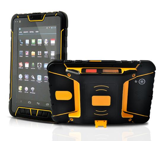 Tablet Android industrial con lector de código de baras