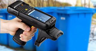 PDA Android RFID LF para contenedores de residuos