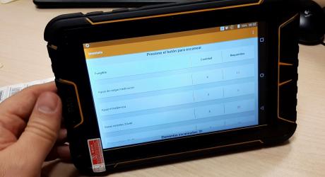 Tablet Android industrial de 7p con lector RFID HF y lector RFID UHF