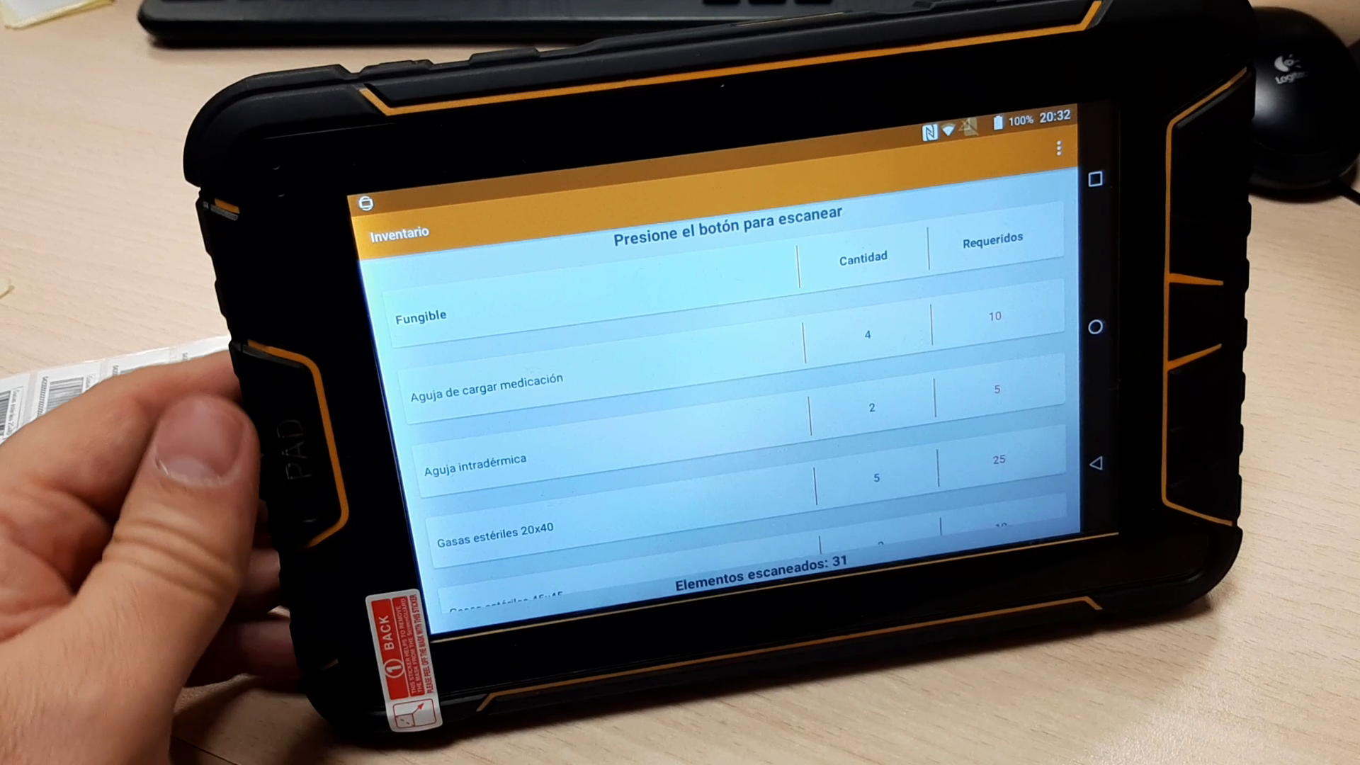 Tablet Android con lectores RFID UHF y HF