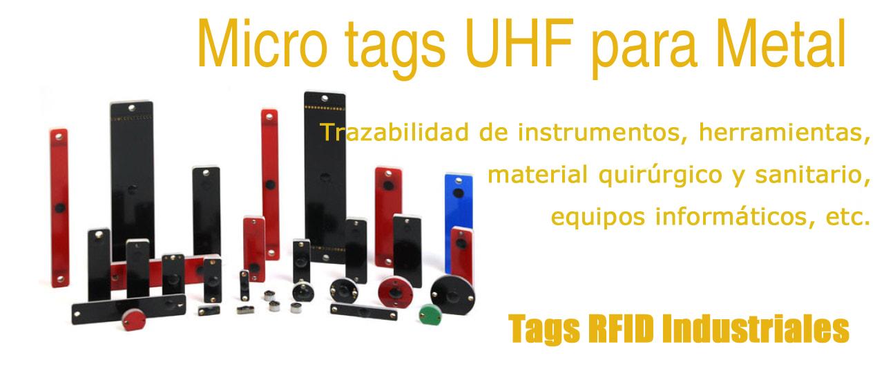 Micro tags UHF para Metal. Tags RFID UHF para herramientas, instrumentos, equipos, etc.