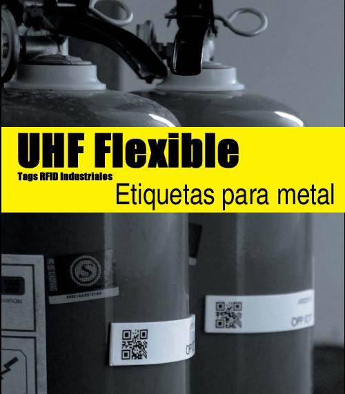 Tags RFID UHF flexibles para metal